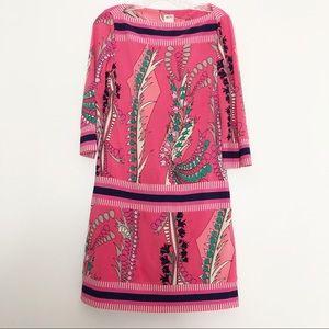 Ali Ro Jersey Shift Dress Geometric Pink Size 4
